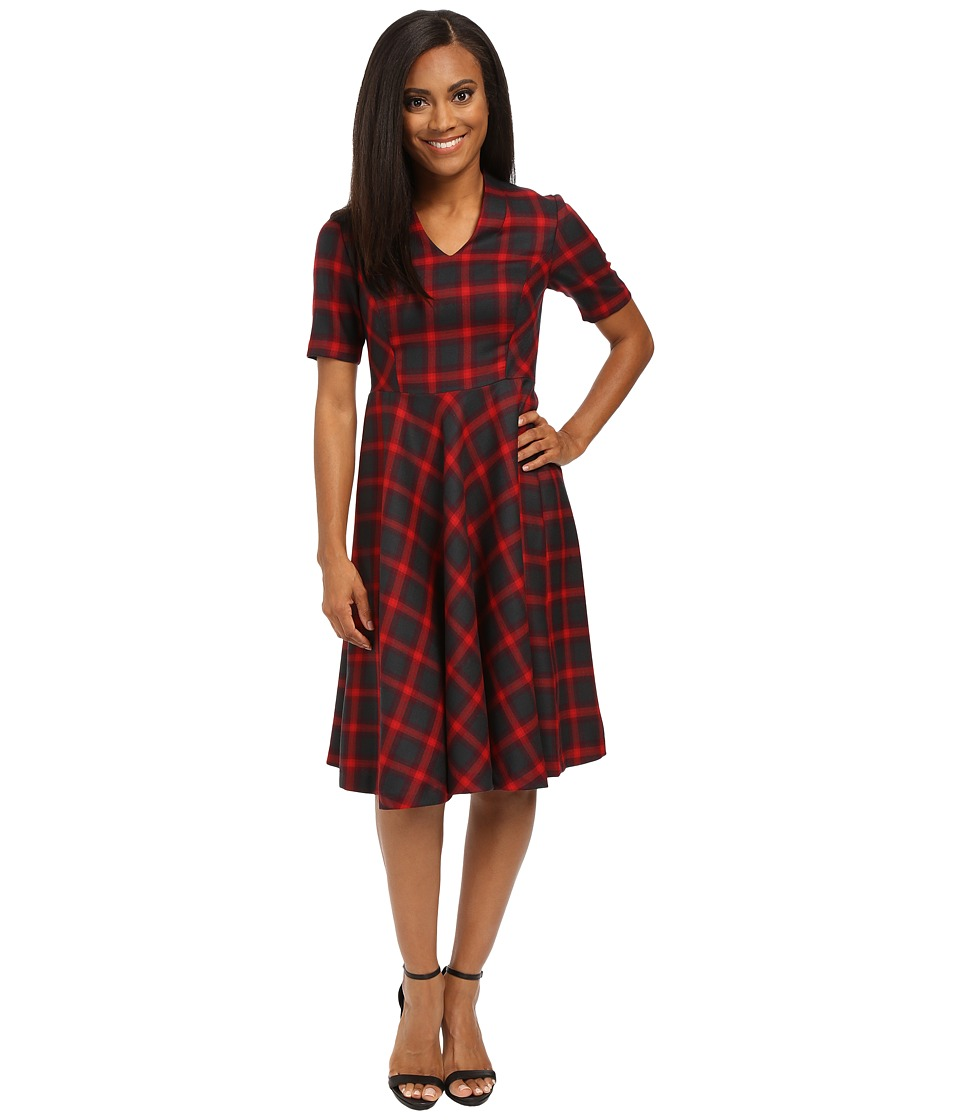 Pendleton - Petite Audrey Dress (Charcoal/Red Plaid) Women's Dress