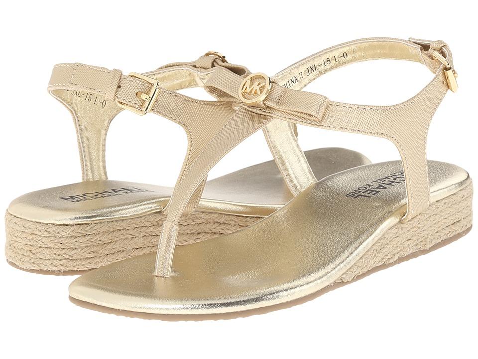 MICHAEL Michael Kors Kids - Perry Rita (Little Kid/Big Kid) (Gold) Girl's Shoes