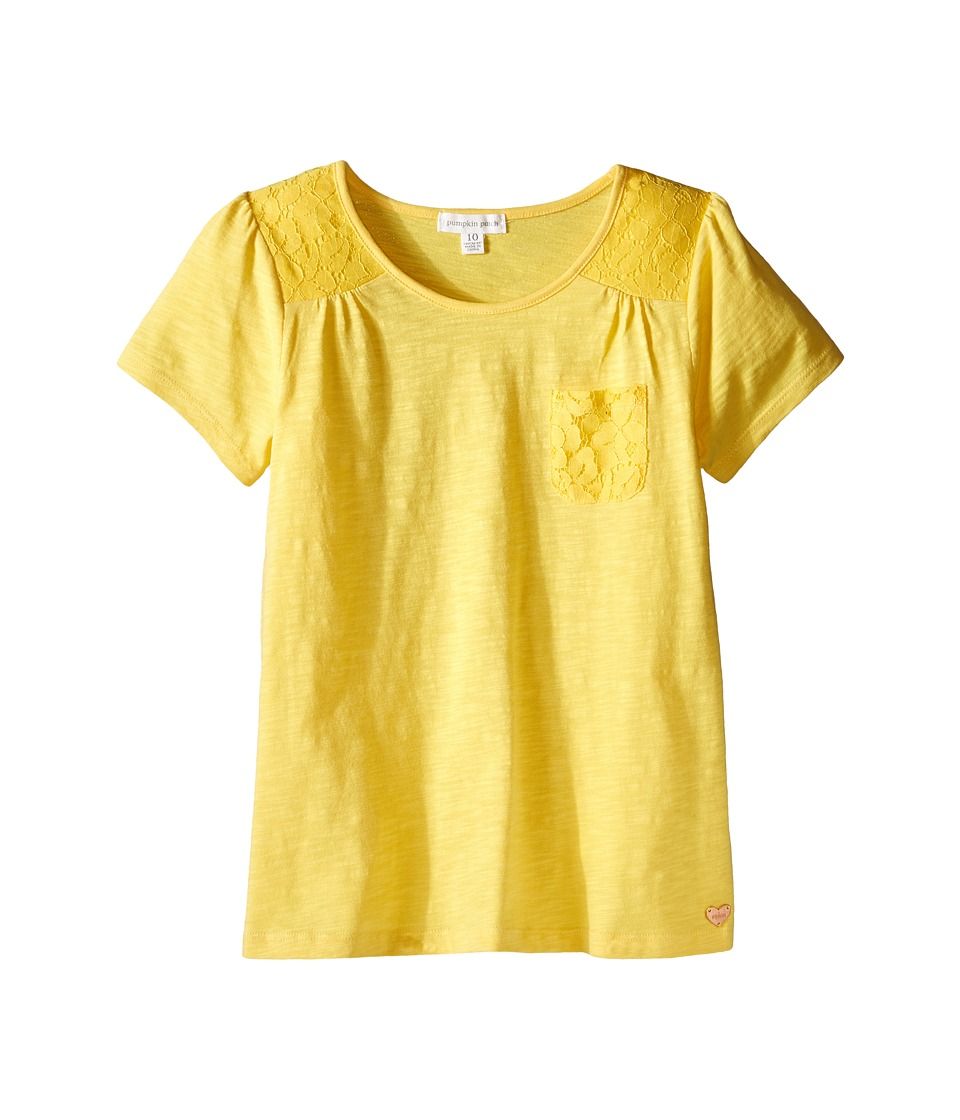 Pumpkin Patch Kids - Core Essentials Sophie Top (Infant/Toddler/Little Kids/Big Kids) (Dandelion) Girl's T Shirt