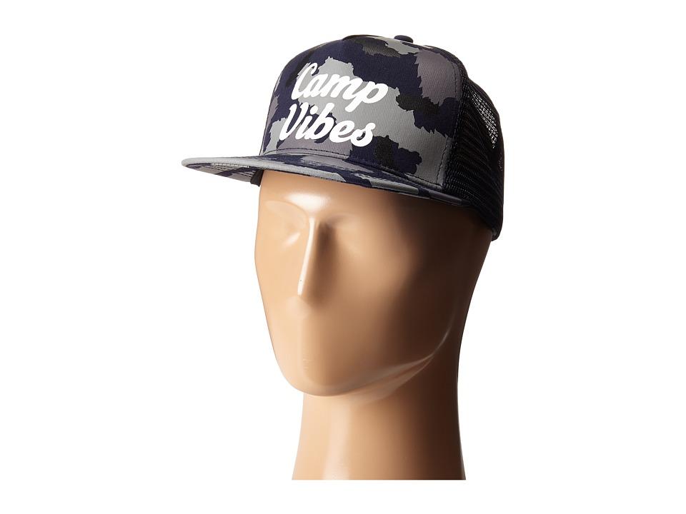 Poler - 70's Vibes Mesh Trucker (Blue Steel Camo) Caps