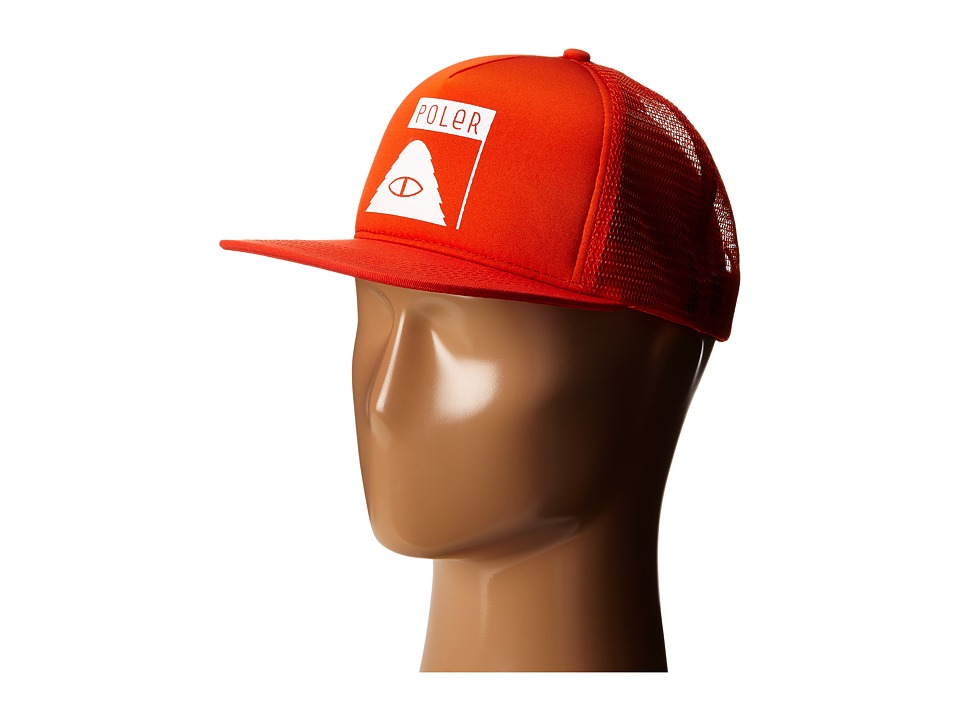 Poler - Summit Mesh Trucker (Burnt Orange) Caps