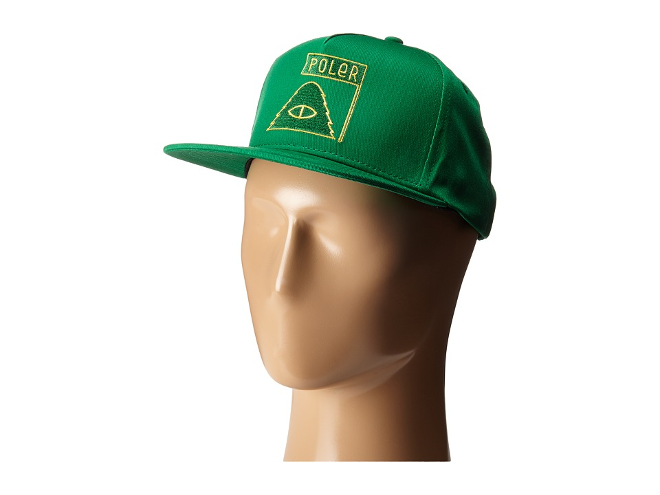 Poler - Summit Snapback (Bright Green) Baseball Caps