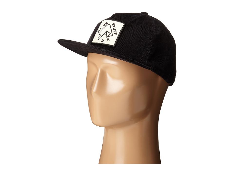 Poler - Grampa Cordy Snapback (Black) Baseball Caps