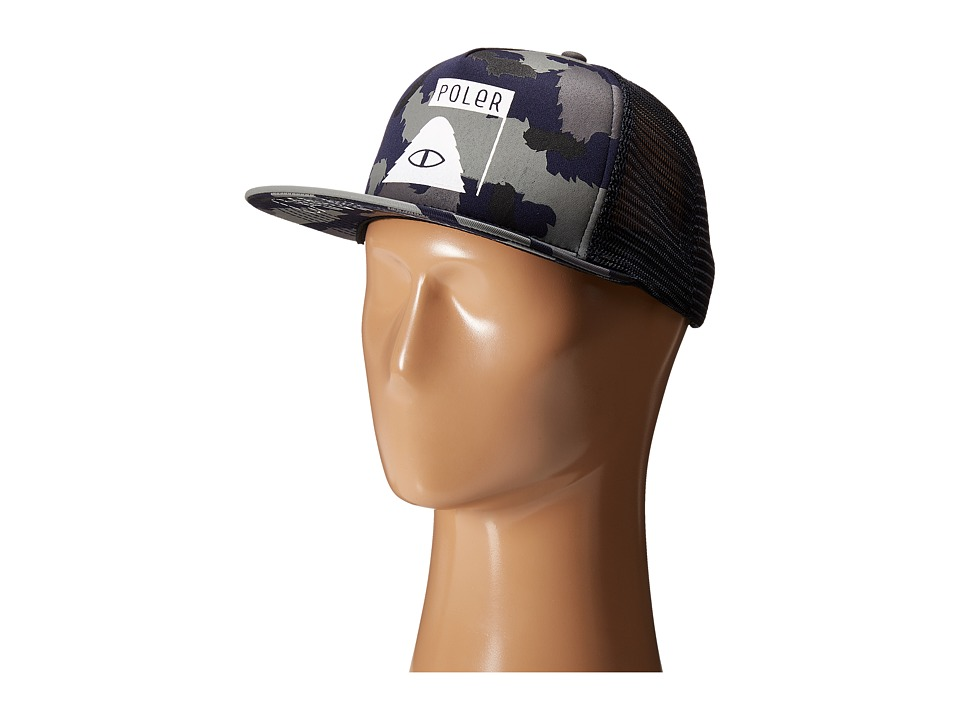Poler - Summit Mesh Trucker (Blue Steel Camo) Caps