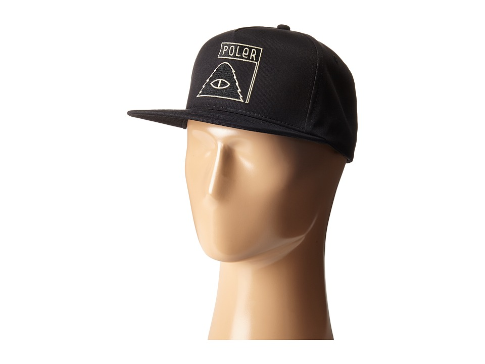 Poler - Summit Snapback (Black) Baseball Caps