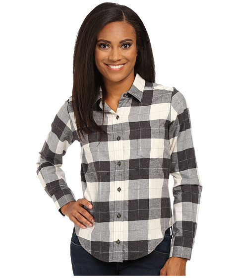 Pendleton - Felicia Flannel Shirt (Charcoal Heather/Ivory Heather Plaid) Women's Long Sleeve Button Up