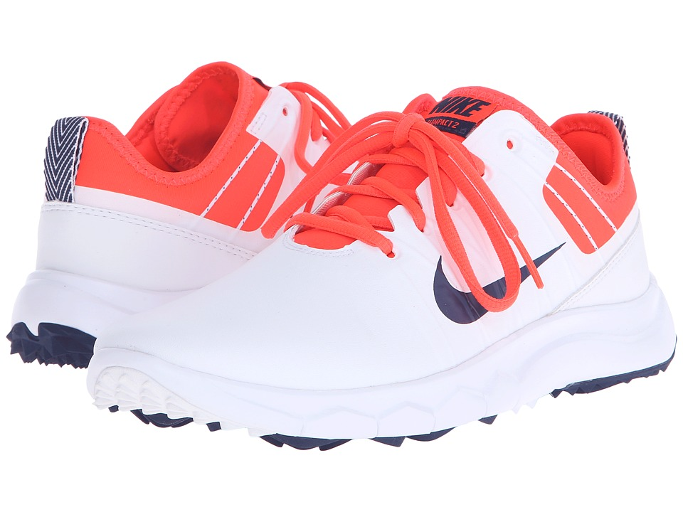 Nike Golf - FI Impact 2 (White/Midnight Navy/Bright Crimson/University Red) Women's Golf Shoes