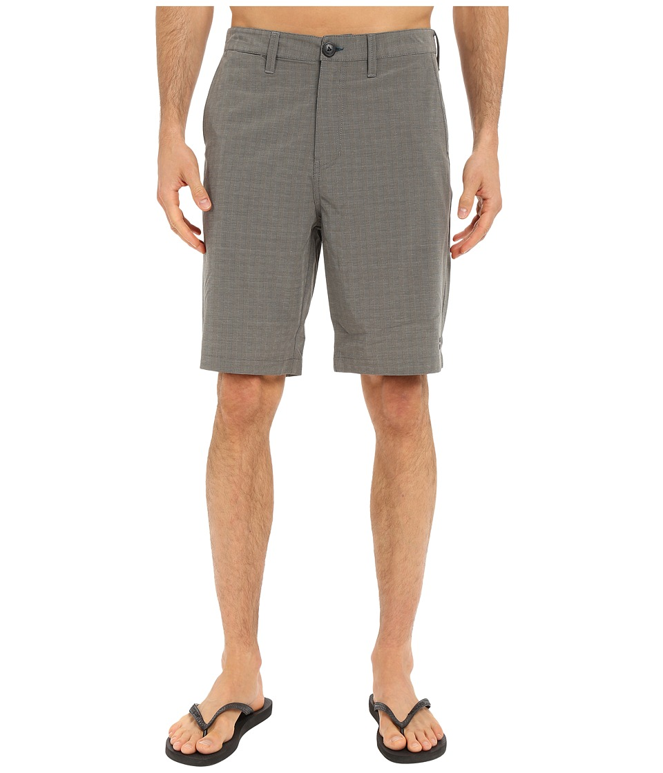 Billabong - Crossfire X Mini Plaid Hybrid Shorts (Black) Men's Shorts