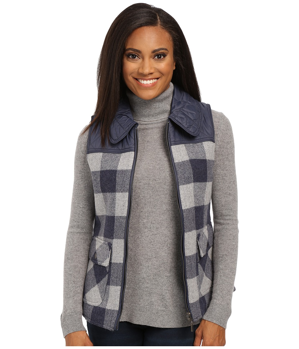 Pendleton - Petite Hillside Vest (Denim Mix/Soft Grey Mix Check) Women