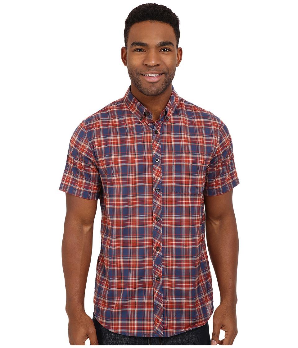 Billabong - Roadhouse Short Sleeve Woven (Dark Royal) Men's Short Sleeve Button Up