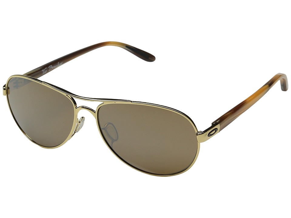 Oakley Tie Breaker (Polished Gold/Tungsten Iridium) Snow ...