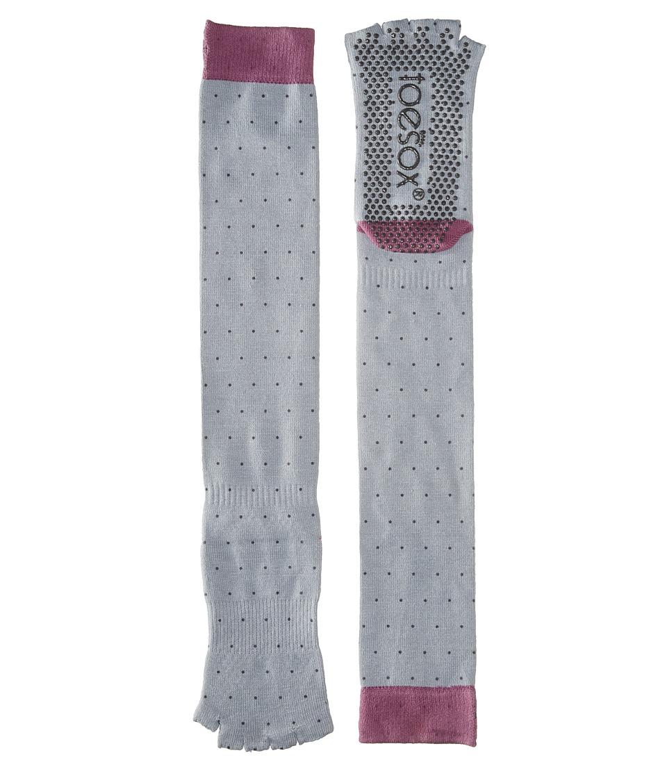 toesox - Grip Half Toe Scrunch (Polka) Women's Knee High Socks Shoes