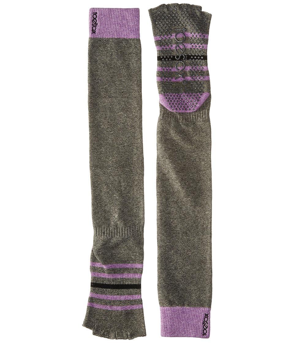 toesox - Grip Half Toe Scrunch (Aire) Women's Knee High Socks Shoes