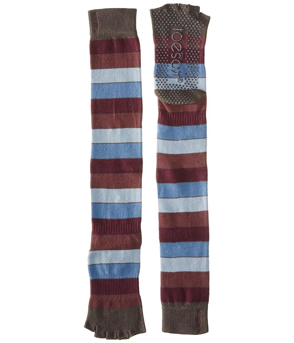 toesox - Grip Half Toe Scrunch (Backflip) Women's Knee High Socks Shoes