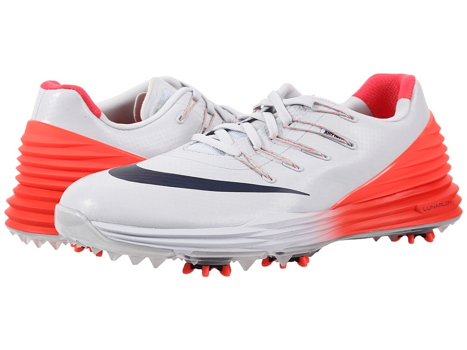 Nike Golf - Lunar Control 4 (Pure Platinum/Midnight Navy/Crimson Red) Women's Golf Shoes