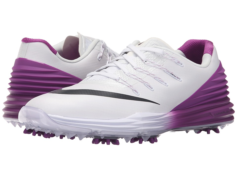 Nike Golf - Lunar Control 4 (White/Anthracite/Cosmic Purple) Women's Golf Shoes