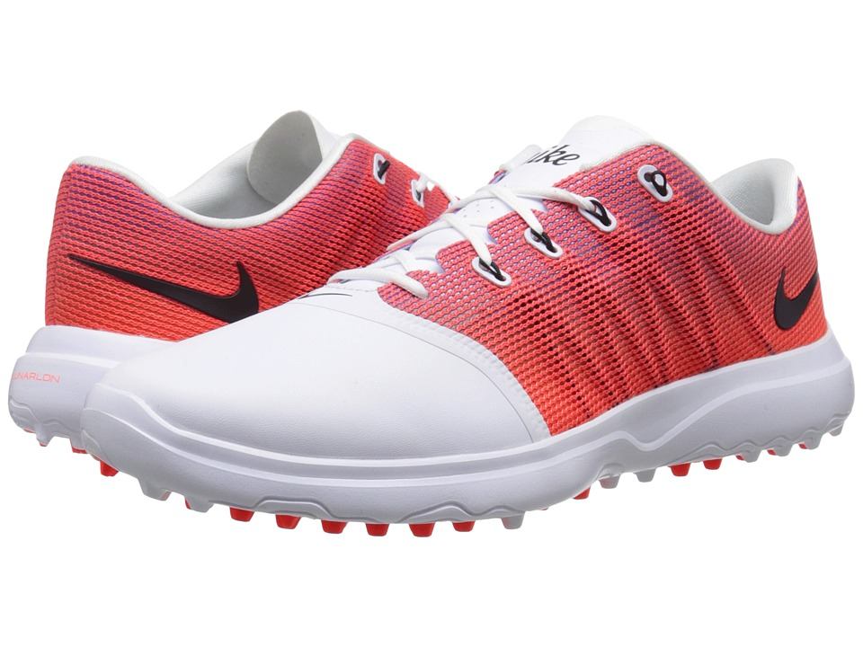 Nike Golf - Lunar Empress 2 (White/Black/Bright Crimson/Purple) Women's Golf Shoes