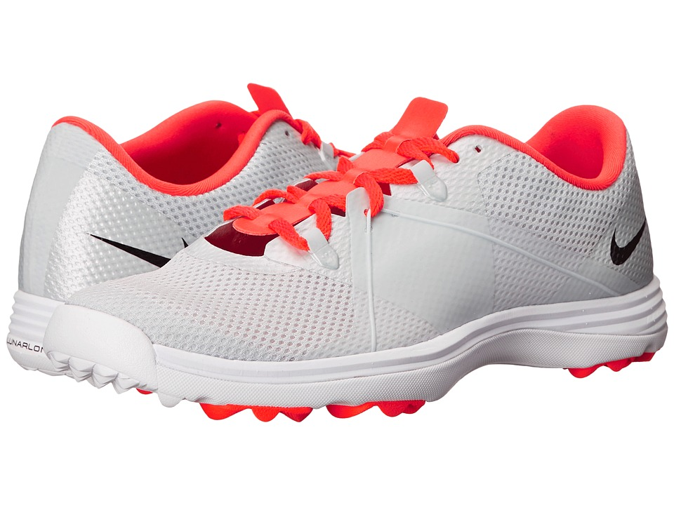 Nike Golf - Lunar Summer Lite (Pure Platinum/Black/Bright Crimson) Women's Golf Shoes