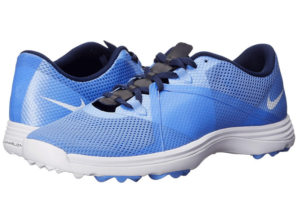Nike Golf - Lunar Summer Lite (Chalk Blue/White/Midnight Navy) Women's Golf Shoes