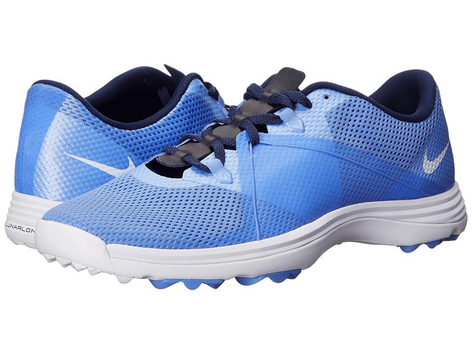 Nike Golf - Lunar Summer Lite (Chalk Blue/White/Midnight Navy) Women's Golf Shoes