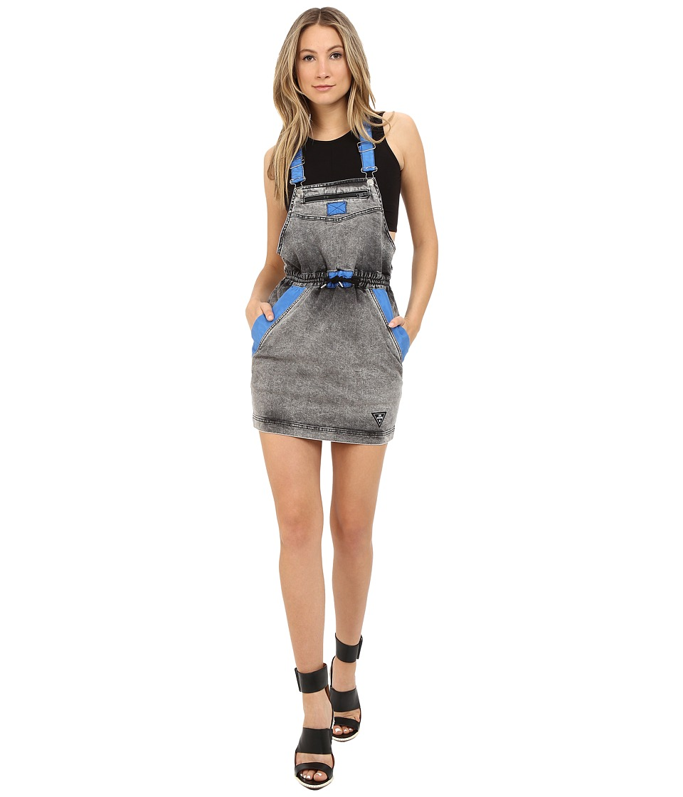 LOVE Moschino Jean Overall Dress (Grey/Blue) Women