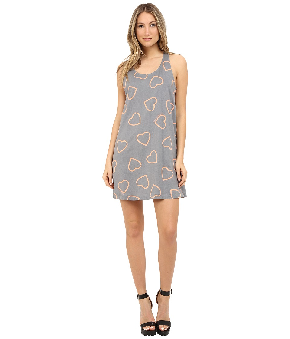 LOVE Moschino - Dress with Hearts (Grey/Pink) Women's Dress