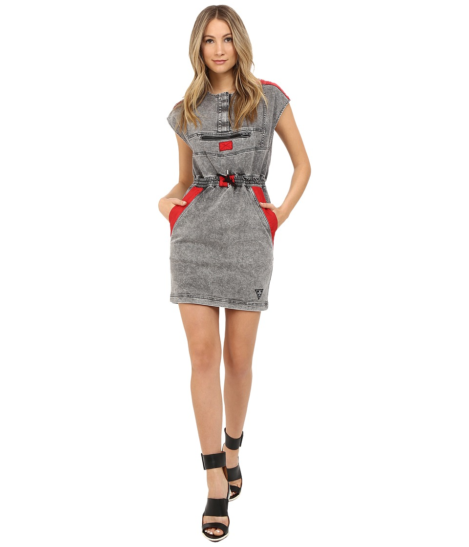 LOVE Moschino Jean Dress (Grey/Red) Women
