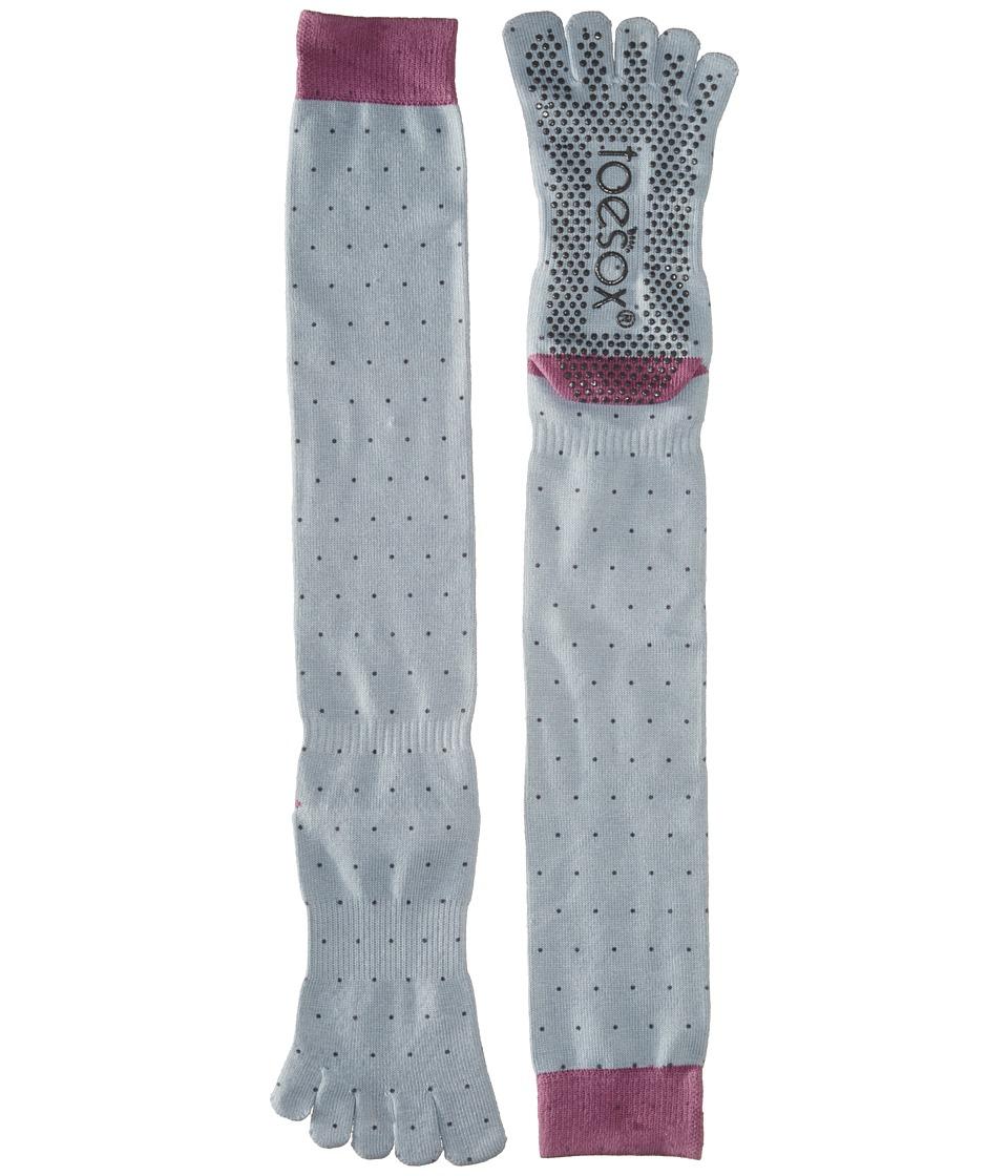 toesox - Grip Full Toe Scrunch (Polka) Women's Low Cut Socks Shoes