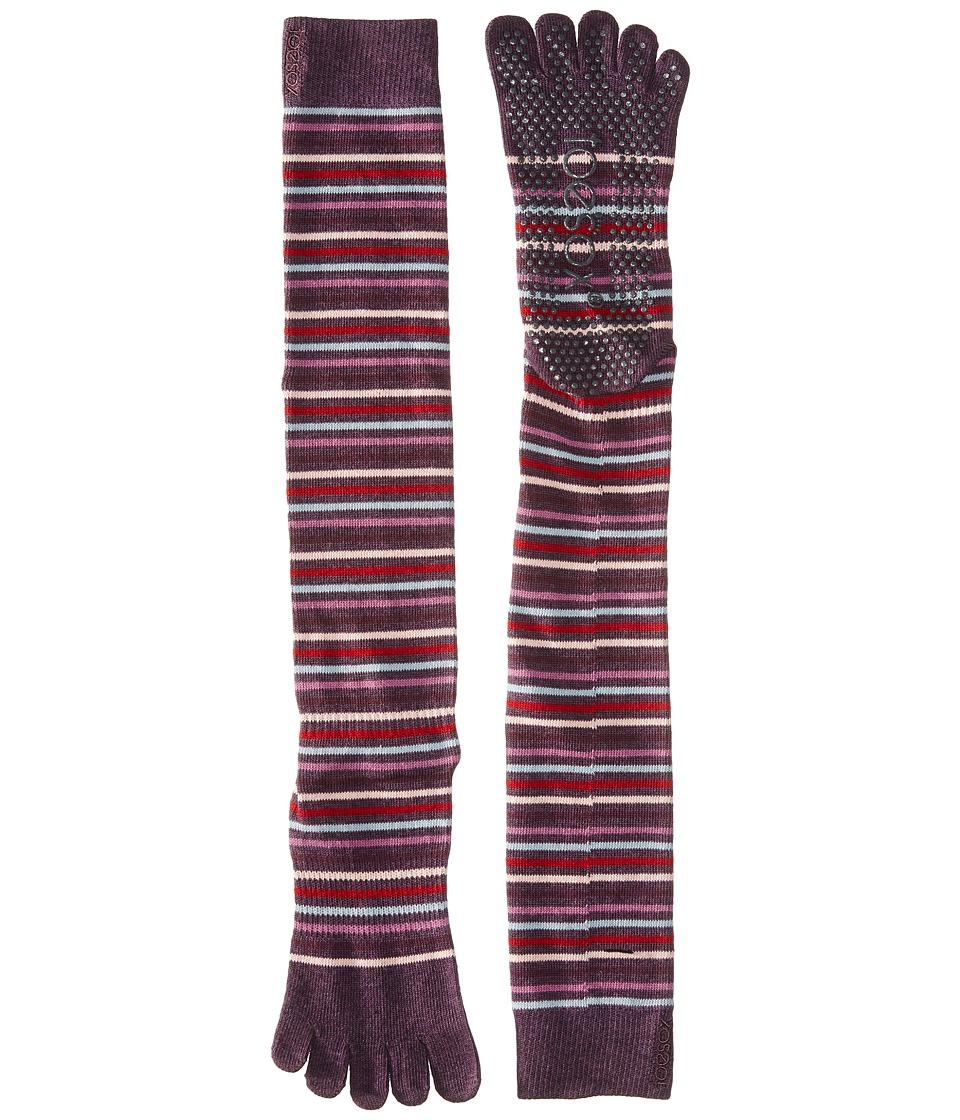 toesox - Grip Full Toe Scrunch (Freestyle) Women's Low Cut Socks Shoes