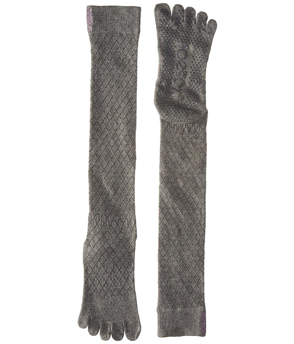 toesox - Grip Full Toe Scrunch (Fishnet Storm) Women's Low Cut Socks Shoes