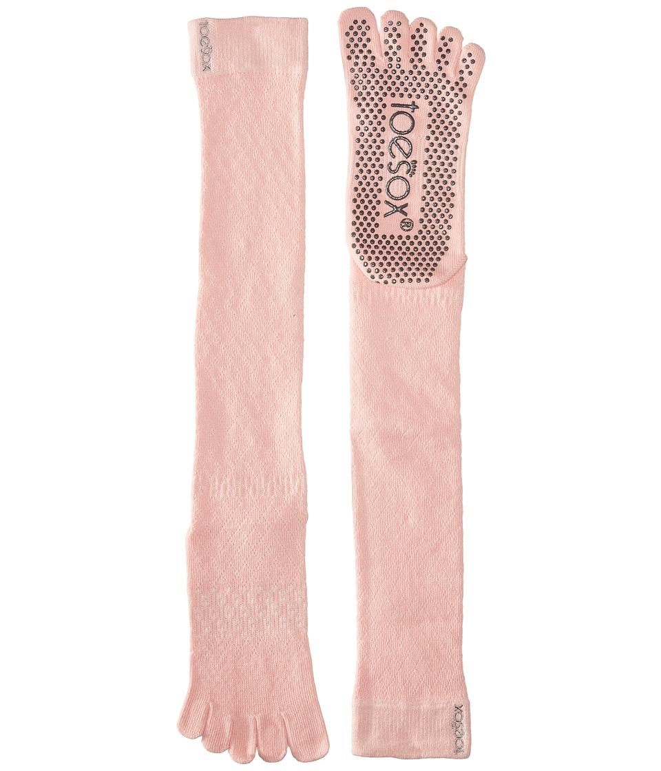 toesox - Grip Full Toe Scrunch (Fishnet Kiss) Women's Low Cut Socks Shoes