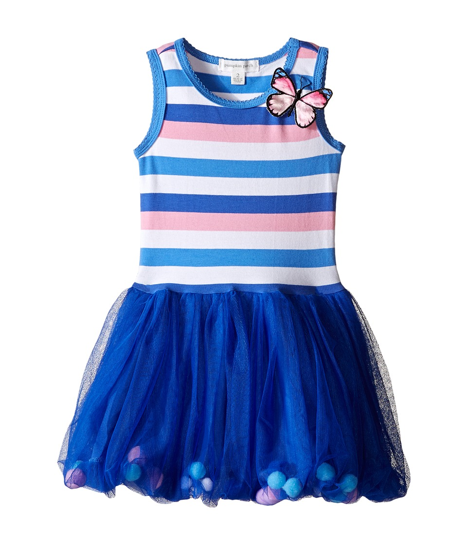 Pumpkin Patch Kids - Patch Friends Butterfly Bubble Dress (Toddler/Little Kids/Big Kids) (Amparo Blue) Girl's Dress