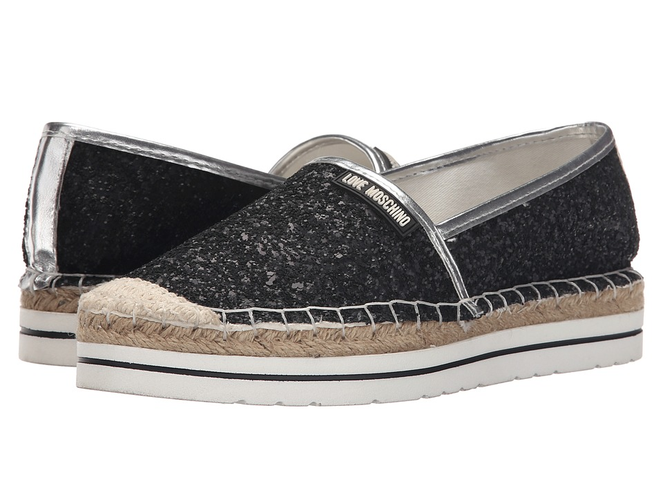 LOVE Moschino - Sparkle Slip-On (Black) Women's Slip on Shoes