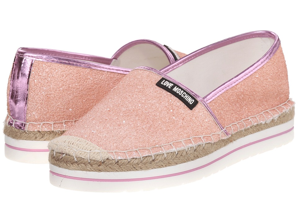 LOVE Moschino - Sparkle Slip-On (Pink) Women's Slip on Shoes