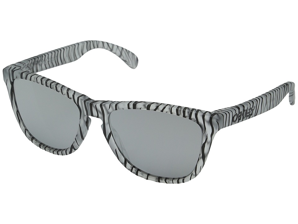 Oakley - Frogskins (Matte Clear/Chrome Iridium) Sport Sunglasses