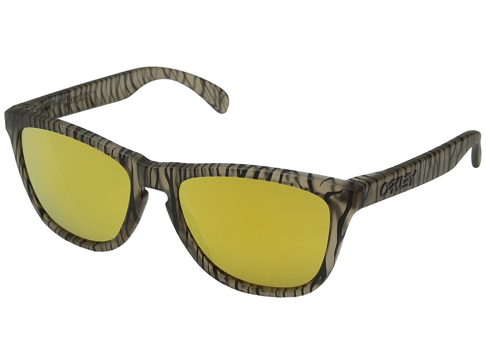 Oakley - Frogskins (Matte Sepia Urban Jungle/24K Iridium) Sport Sunglasses