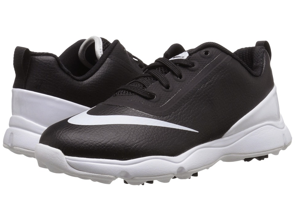 Nike Golf - Control Jr. (Little Kid/Big Kid) (Black/White) Men's Golf Shoes