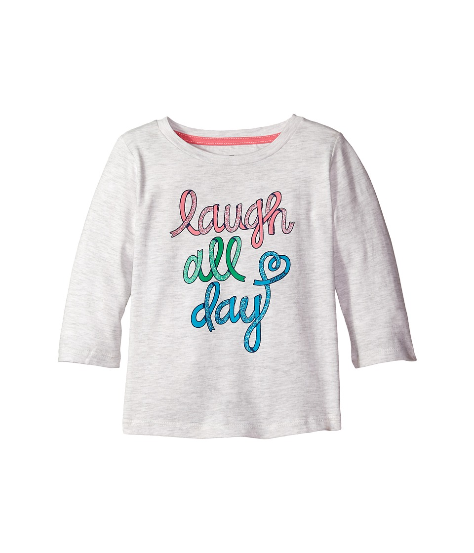 Tommy Hilfiger Kids - Laugh All Day 3/4 Sleeve Top (Little Kid) (Storm Heather) Girl's T Shirt