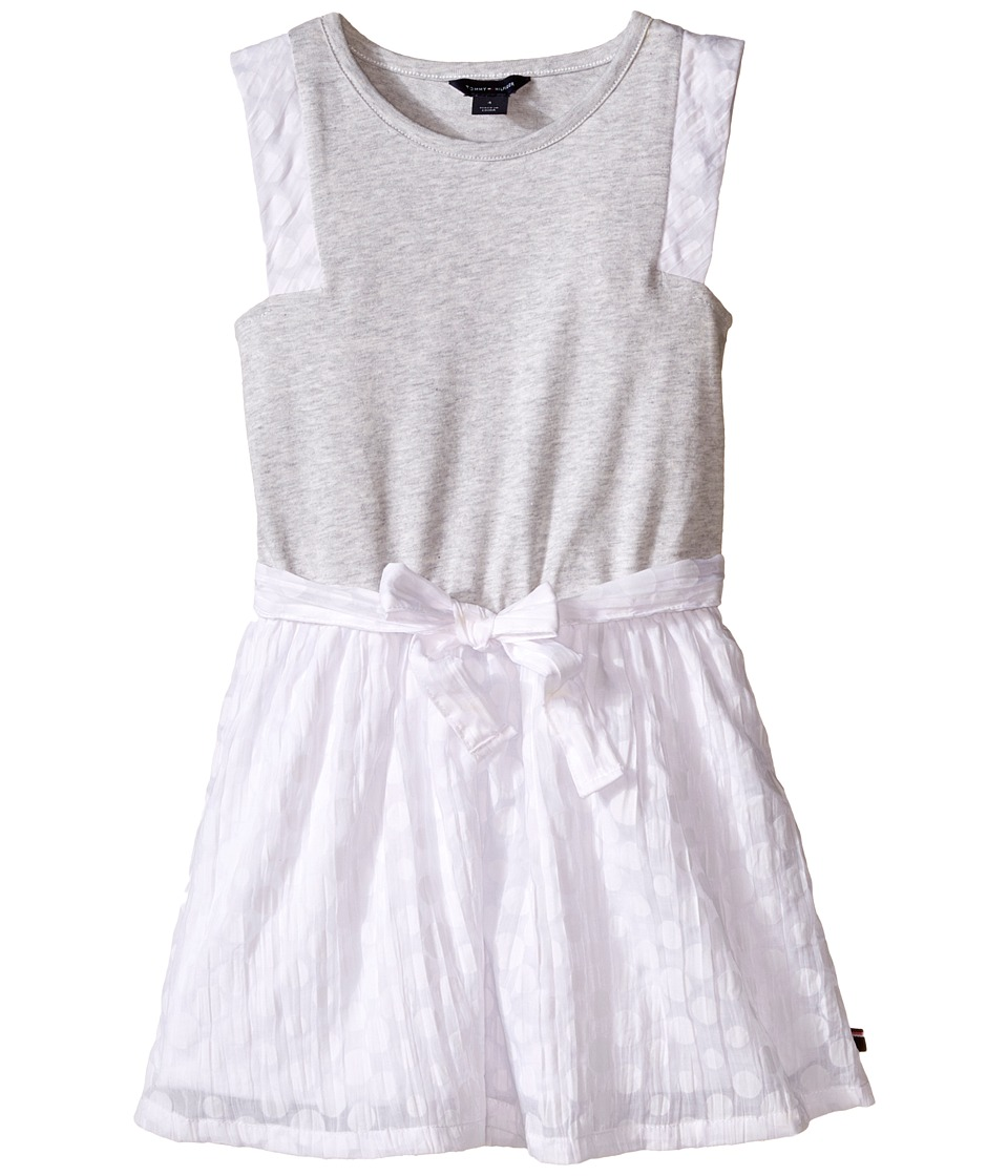 Tommy Hilfiger Kids - Burn Out Voile and Jersey Dress (Little Kid) (Storm Heather) Girl's Dress