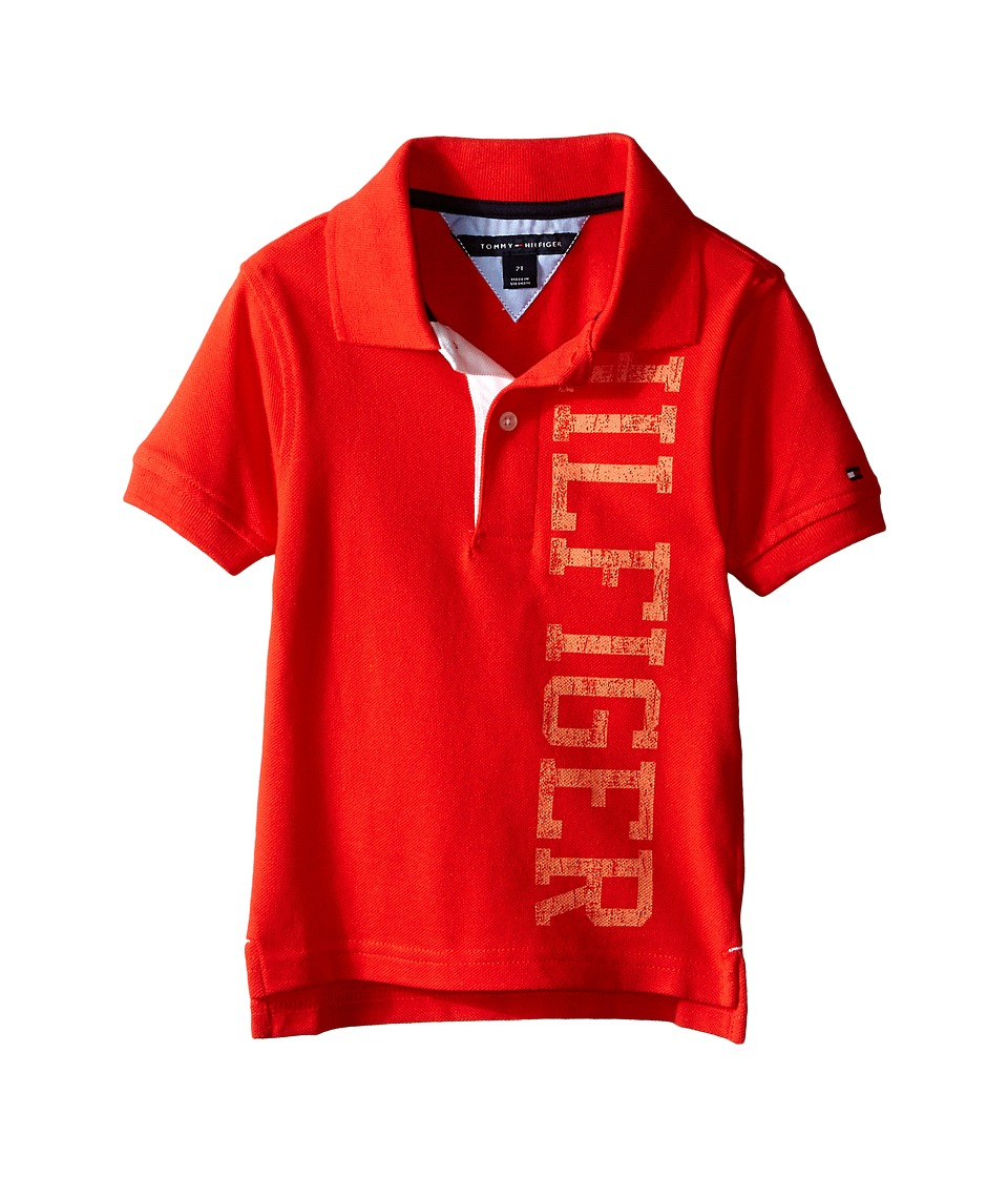 Tommy Hilfiger Kids - Sydney Polo (Toddler) (Holly Red) Boy