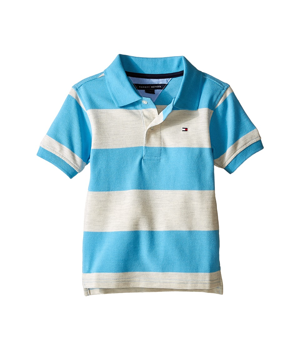 Tommy Hilfiger Kids - Jayden Polo (Toddler) (Oatmeal Heather) Boy's Clothing