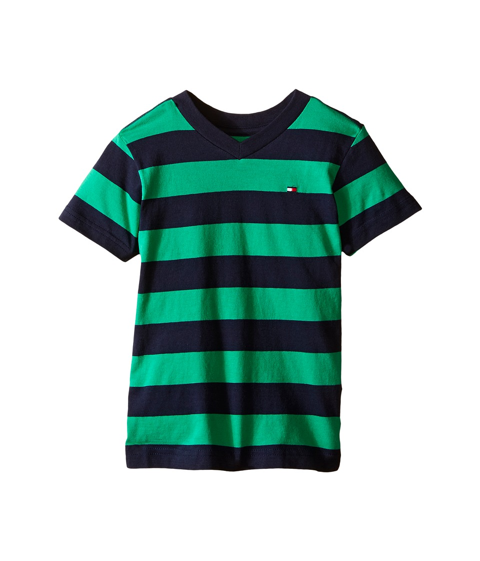 Tommy Hilfiger Kids - Famous Stripe Tee (Toddler) (Mint Leaf) Boy's Clothing