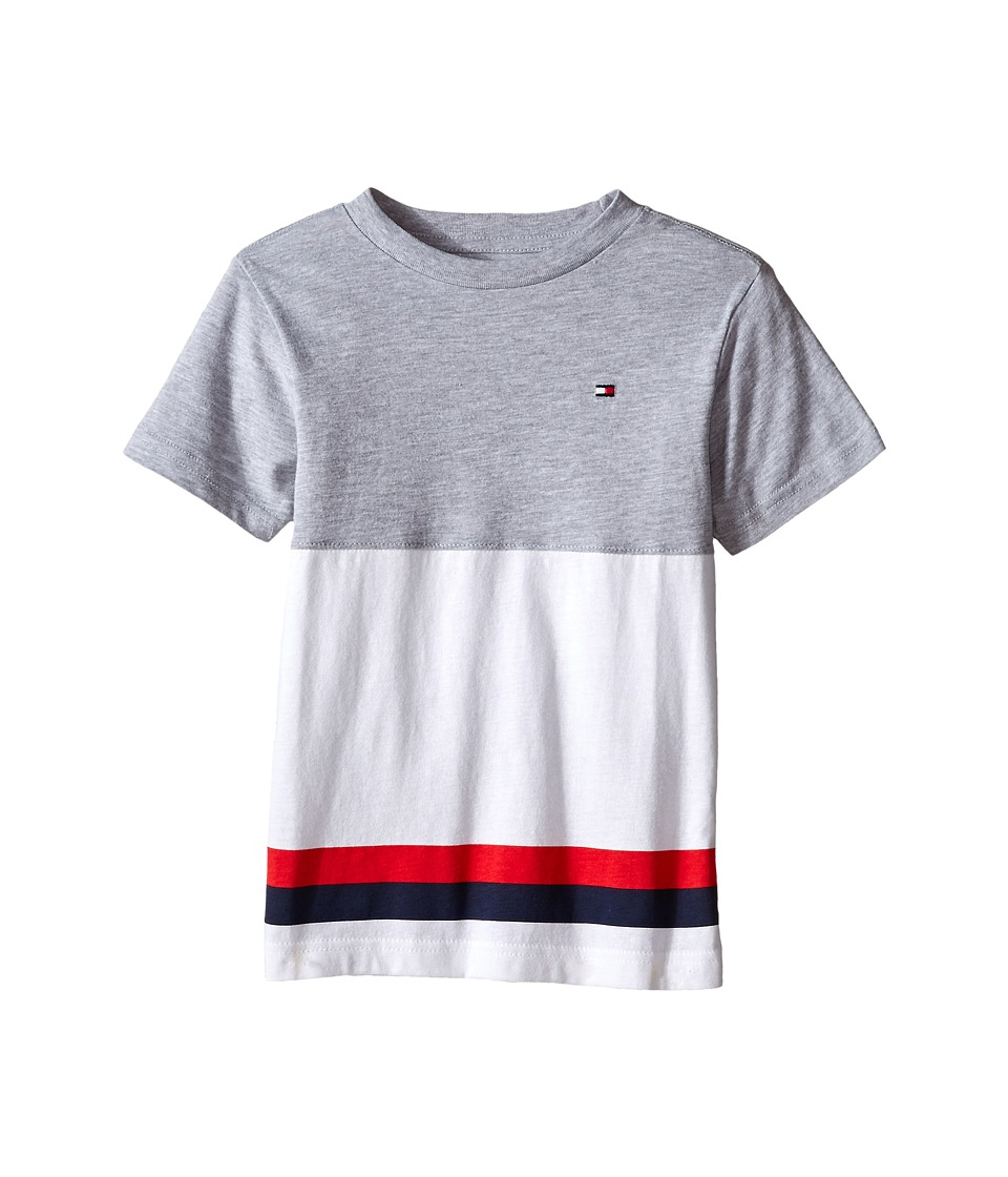 Tommy Hilfiger Kids - Kristov Stripe Tee (Toddler/Little Kid) (Tommy Hilfiger Grey Heather) Boy