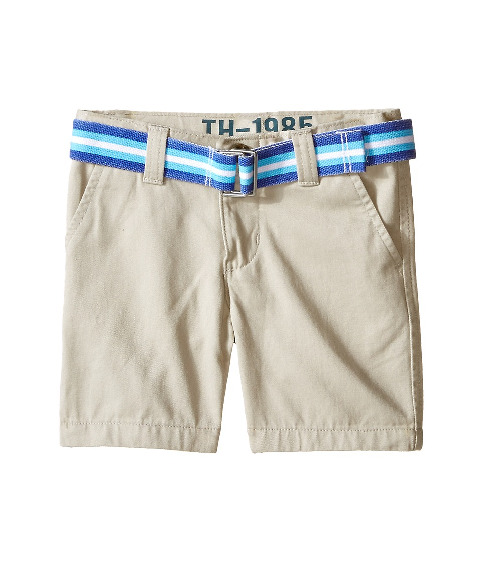 Tommy Hilfiger Kids - Chester Twill Shorts (Toddler) (Light Buff) Boy's Shorts