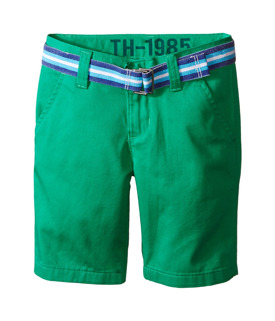 Tommy Hilfiger Kids - Chester Twill Shorts (Toddler/Little Kid) (Mint Leaf) Boy's Shorts