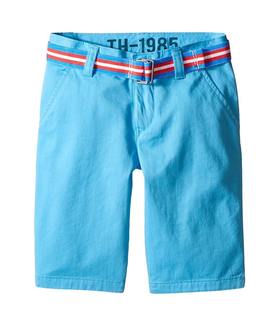 Tommy Hilfiger Kids - Chester Twill Shorts (Toddler/Little Kid) (Zen Blue) Boy's Shorts