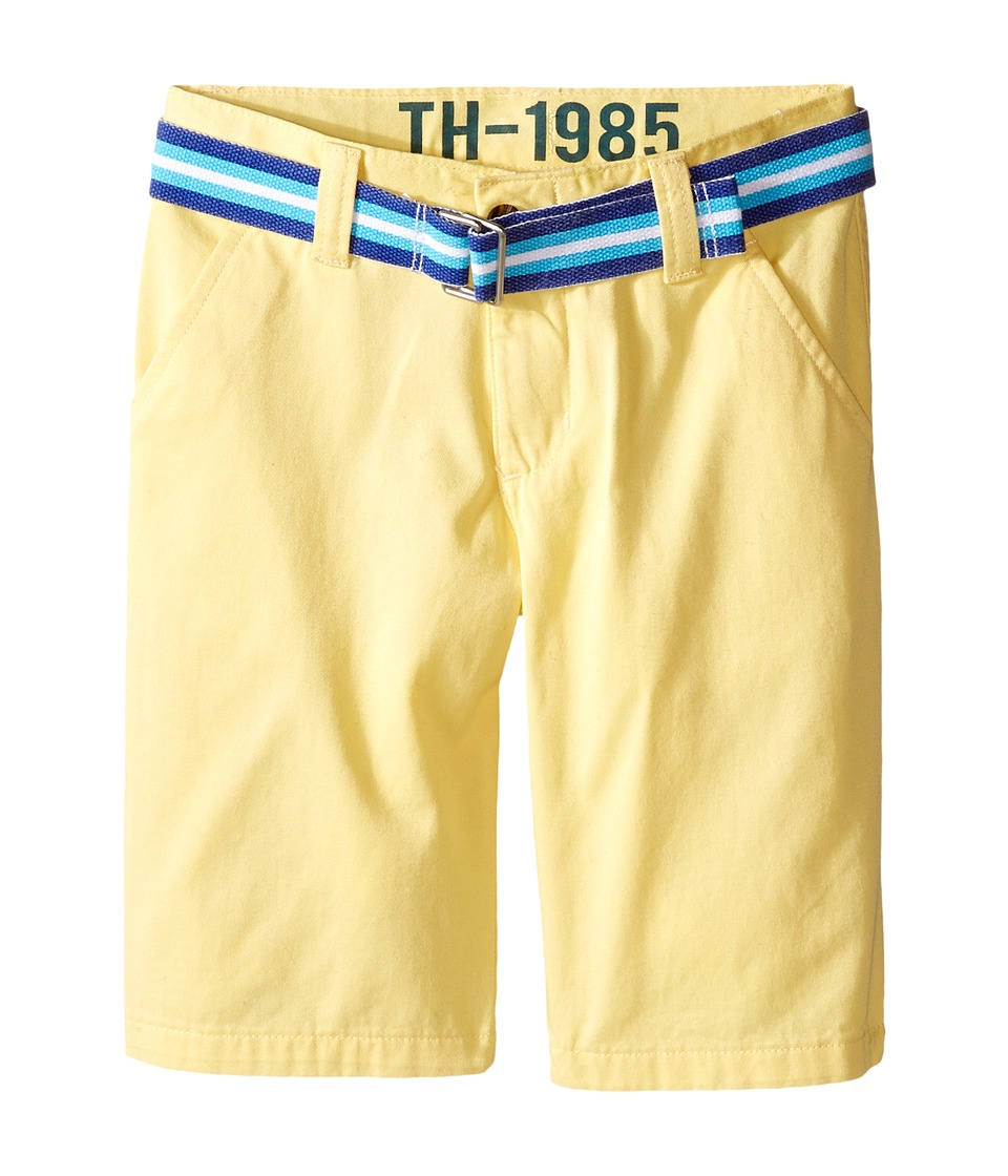 Tommy Hilfiger Kids - Chester Twill Shorts (Toddler/Little Kid) (Pale Banana) Boy's Shorts