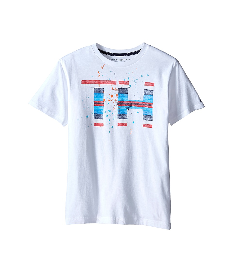 Tommy Hilfiger Kids - Serape Tommy Hilfiger Tee (Big Kid) (White) Boy's T Shirt