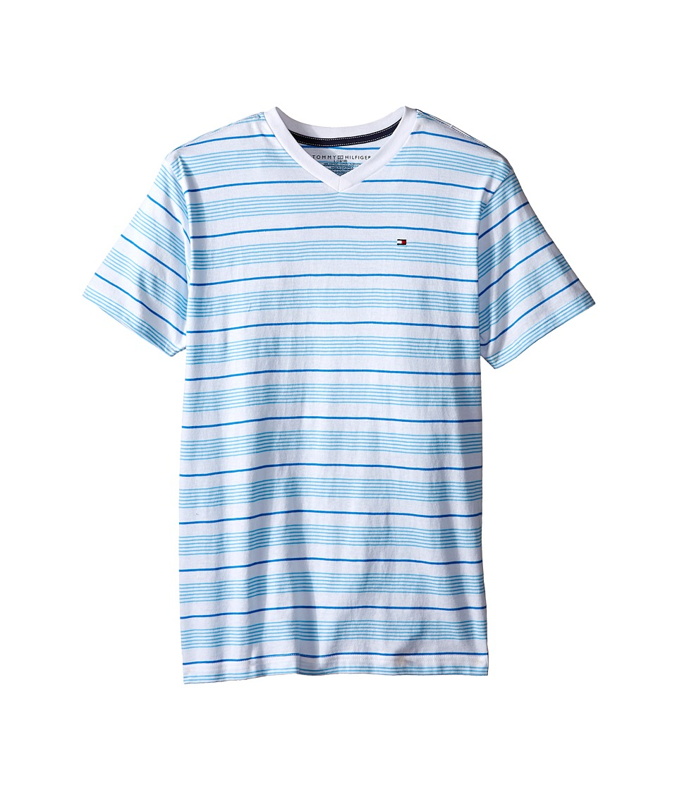 Tommy Hilfiger Kids - Jabin Stripe Tee (Big Kid) (Zen Blue) Boy's T Shirt