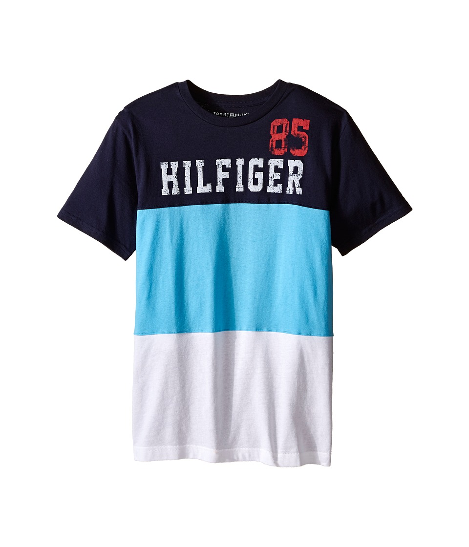 Tommy Hilfiger Kids - Boris Stripe Tee (Big Kid) (Swim Navy) Boy's T Shirt
